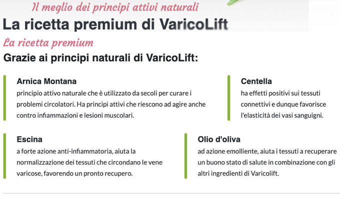 Ingredienti di Varicolift