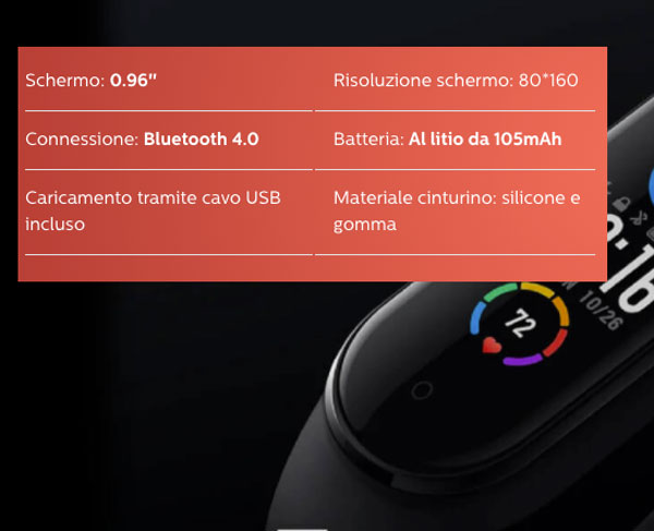 caratteristiche tecniche di 6 Compact Watch
